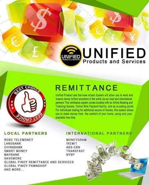 unified products and services mandaluyong grace diez remittance