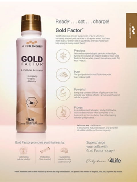 4Life Transfer Factor - Gold Factor, Boost Immune System, Protects Cellular DNA, Sharpens Mental Acuity, United States, America, Office